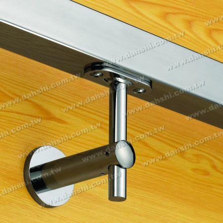 Sekrup Self-Tapping - Tabung Persegi Stainless Steel, Rectangular Tube Handrail Wall Bracket Tinggi Disesuaikan - Sudut Tetap