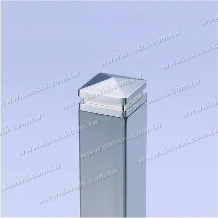 Stainless Steel Square Tube Spire Top End Cap - 2 Layers