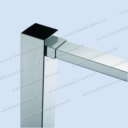 Stainless Steel Rectangle Tube Handrail End