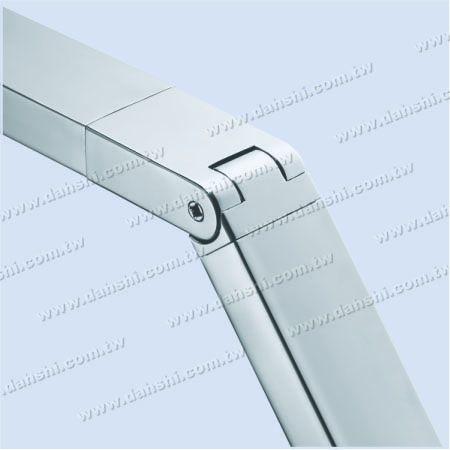 Rectangle Tube Internal Extra Length Elbow Angle Adjustable
