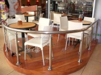 Mc Cafe - История перил и балясины для Mc Cafe