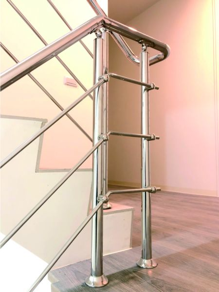 Stainless Steel Handrail for Stairs - A Five-Story House Renovation