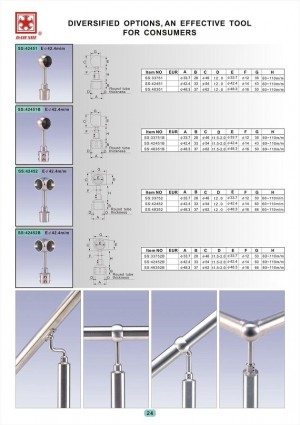 Dah Shi exquisite Stainless Steel Accessories of Handrails / Balustrades / Metal Building Materials.  - Diversified options, and effective tool for connsumers.