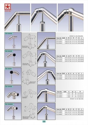 Dah Shi exquisite Stainless Steel Accessories of Handrails / Balustrades / Metal Building Materials. - Dah Shi Stainless Steel tubular railings, High-class assemblies and accessories.