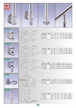 Dah Shi exquisite Stainless Steel Accessories of Handrails / Balustrades / Metal Building Materials. - Best products and highly exepienced artificers have brought Dah Shi to the first place among all counter parts.