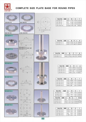 Dah Shi exquisite Stainless Steel Accessories of Handrails / Balustrades / Metal Building Materials. - Dah Shi stainless steel handrial fittings not only solve the problems of corners, also make them look better.