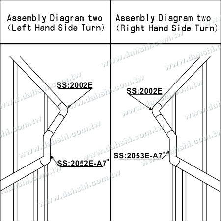 تصویر: فولاد ضد زنگ لوله داخلی داخلی پله گوشه طول اضافی اتصال - زاویه می تواند سفارشی