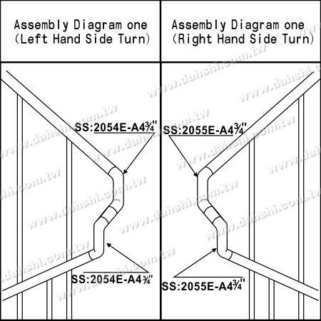 التوضيح: الفولاذ المقاوم للصدأ جولة أنبوب الداخلية درج ستاير اضافية طول موصل - زاوية يمكن أن تكون مخصصة