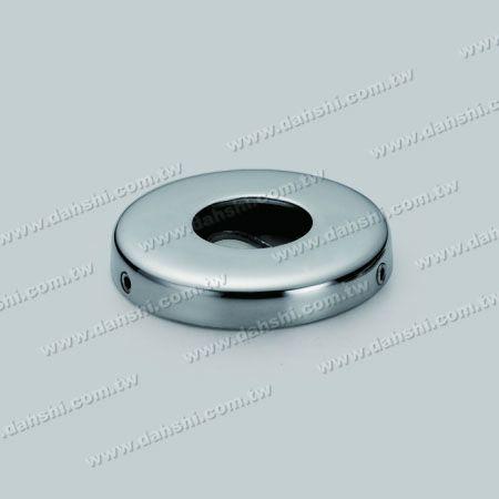 कवर के साथ एसएस गोल ट्यूब बेस प्लेट - कवर के साथ स्टेनलेस स्टील गोल ट्यूब बेस प्लेट - स्क्रू अदृश्य