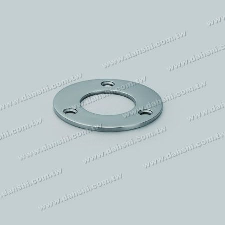 S.S. Round Tube Base Plate - Stainless Steel Round Tube Base Plate - Screw Expose