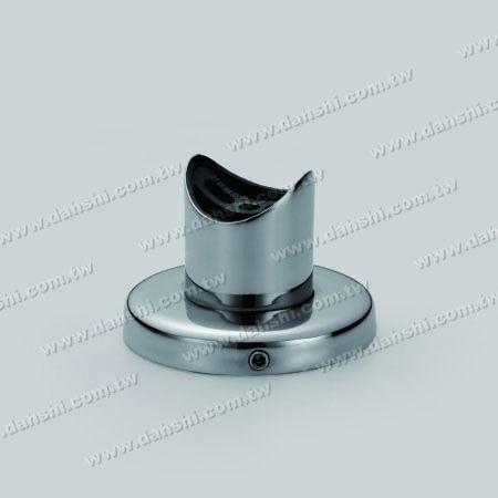 कवर के साथ एसएस राउंड ट्यूब रेलिंग सपोर्ट - कवर के साथ स्टेनलेस स्टील गोल ट्यूब रेलिंग समर्थन - पेंच अदृश्य