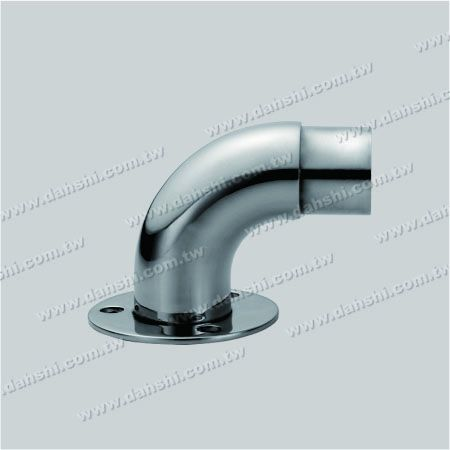 Stainless Steel Round Tube Handrail Support 90degree Elbow - Screw Expose