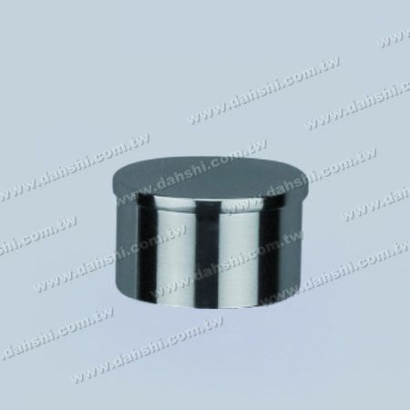 S.S. Round Tube Flat Top End Cap - Stainless Steel Round Tube Flat Top End Cap