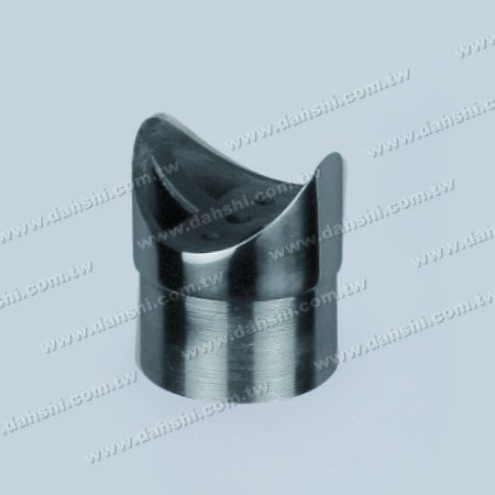 S.S. Round Tube Handrail Perp. Post Saddle Connector - Stainless Steel Round Tube Handrail Perpendicular Post Saddle Connector