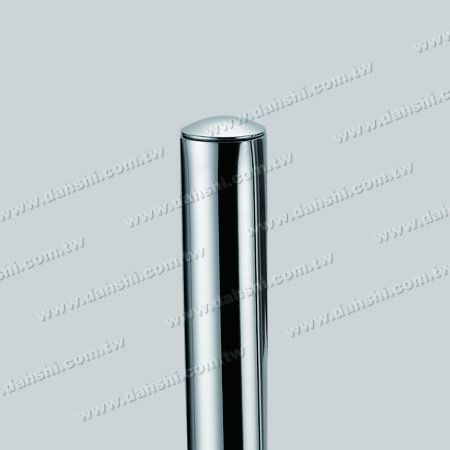 """1"""" Stainless Steel Round Tube Curve Top End Cap with Exit Spring Design - Apply for All Thickness of Round Tube"""
