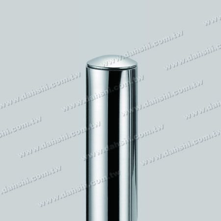 """1 1/4"""" Stainless Steel Round Tube Curve Top End Cap with Exit Spring Design - Apply for All Thickness of Round Tube"""