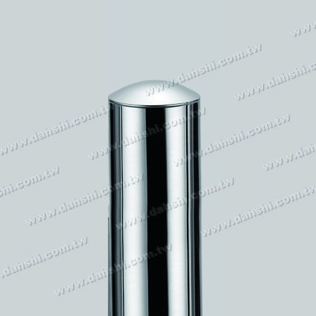 """1 1/2"""" Stainless Steel Round Tube Curve Top End Cap with Exit Spring Design - Apply for All Thickness of Round Tube"""