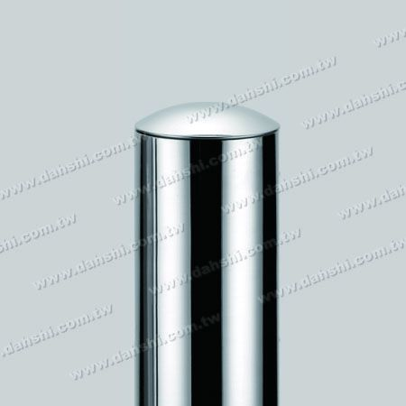 """2"""" Stainless Steel Round Tube Curve Top End Cap with Exit Spring Design - Apply for All Thickness of Round Tube"""
