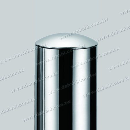 """2 1/2"""" Stainless Steel Round Tube Curve Top End Cap with Exit Spring Design - Apply for All Thickness of Round Tube"""