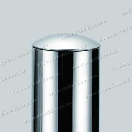 """3"""" Stainless Steel Round Tube Curve Top End Cap with Exit Spring Design - Apply for All Thickness of Round Tube"""
