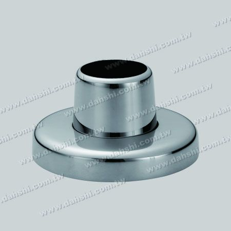 S.S. Round Tube Handrail 3 pcs Round Base - Stainless Steel Round Tube Handrail 3 Pieces Round Base - Screw Invisible