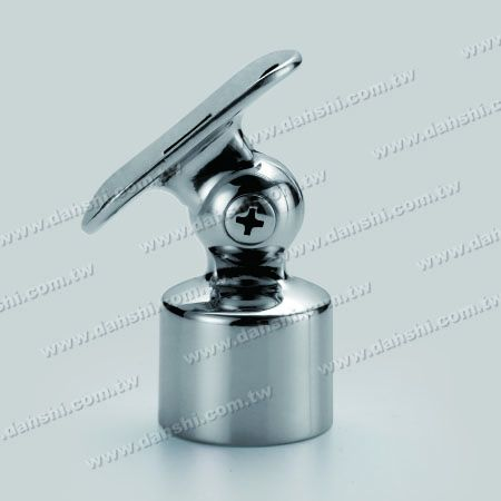S.S. Round Tube Perp. Post Adj. Conn. Support Radiused Ext. - Stainless Steel Round Tube Handrail Perpendicular Post Adjustable Connector Support Radiused External Fit