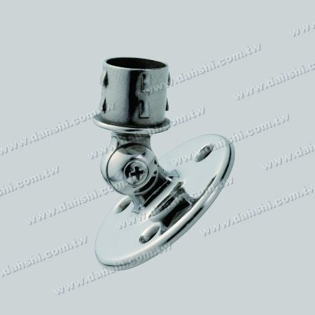 S.S. Handrail Support Angle Adj. Internal - Stainless Steel Round Tube Handrail Support Angle Adjustable Internal