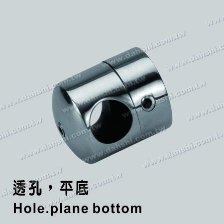 Stainless Steel Tube/Bar Holder Go Through Flat Back - Stainless Steel Tube/Bar Holder Go Through Flat Back