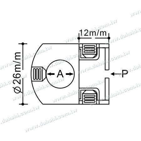 Dimension:Stainless Steel Tube/Bar Holder Go Through Flat Back