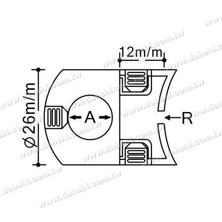 Dimension:Stainless Steel Tube/Bar Holder Go Through