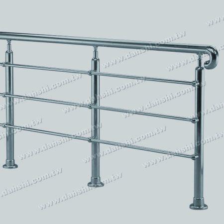 Diagram of Stainless Steel Tube/Bar Holder Go Through