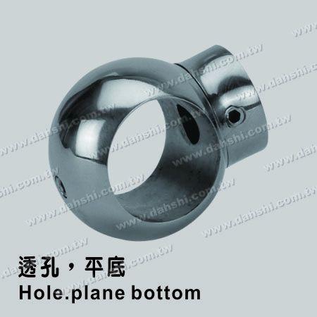 Stainless Steel Tube/Bar Holder Go Through Flat Back - Stainless Steel Tube/Bar Holder Go Through Flat Back
