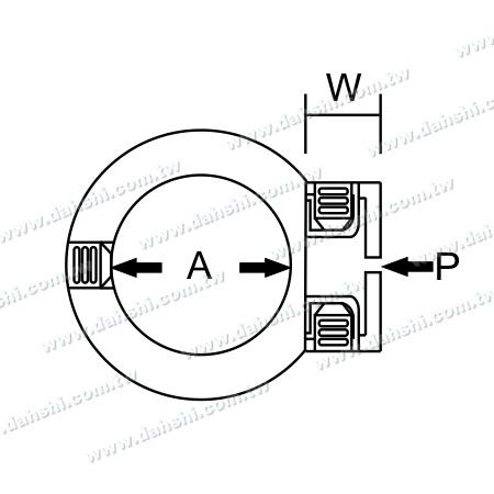 Dimension:Stainless Steel Tube/Bar Holder Close End Flat Back