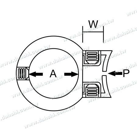 Dimension:   Stainless Steel Tube/Bar Holder Go Through