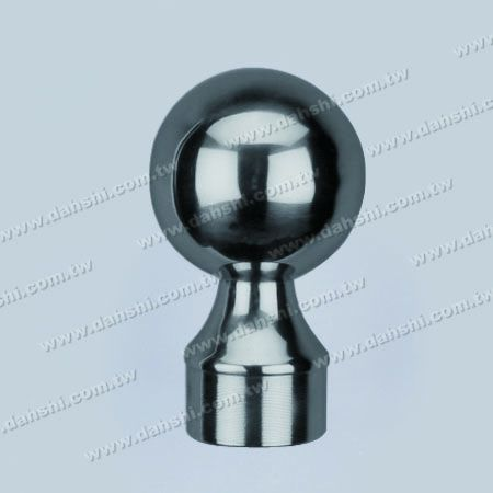 """S.S. Round Tube Ball Type End Cap - Stainless Steel Round Tube Ball Type End Cap - Ball Size 3"""""""