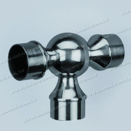 S.S. Round Tube Internal Ball T Connector - Stainless Steel Round Tube Internal Ball T Connector