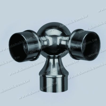 SS Round Tube Bola Internal 90 ° T Conn. - Stainless Steel Round Tube Internal Ball T Connector 90dgree