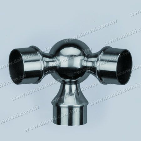 S.S. Round Tube Internal Ball Connector 135° 3 Way Out - Stainless Steel Round Tube Internal Ball Connector 135degree 3 Way Out