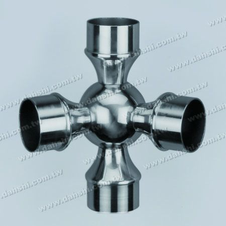 S.S. Round Tube Internal 135° Ball Type Conn. 4 Way Out - Stainless Steel Round Tube Internal 135degree Ball Type Connector 4 Way Out