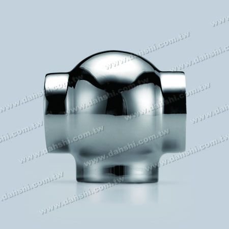 S.S. Round Tube External T Conn. Ball Type - Stainless Steel Round Tube External T Connector Ball Type - Stamping Made