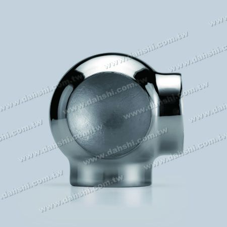 S.S. Round Tube External 90° T Conn. Ball Type - Stainless Steel Round Tube External 90degree T Connector Ball Type - Stamping Made