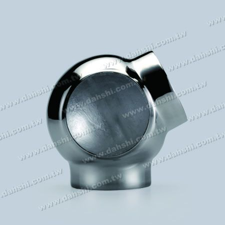 S.S. Round Tube External 135° 3 Way Out Conn. Ball Type - Stainless Steel Round Tube External 135degree 3 Way Out Connector Ball Type - Stamping Made