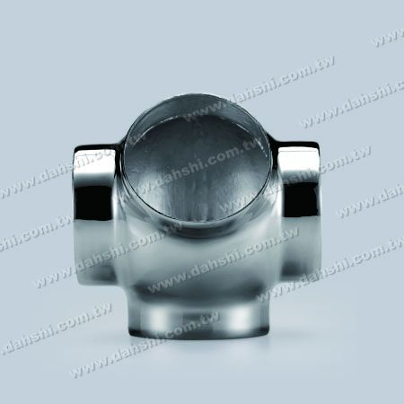 S.S. Round Tube External 135° Ball Connector 4 Way Out - Stainless Steel Round Tube External 135degree Ball Connector 4 Way Out - Stamping Made