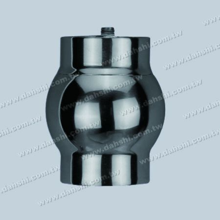Stainless Steel Round Tube External Line Ball Connector - Casting Made - Stainless Steel Round Tube External Line Ball Connector - Casting Made