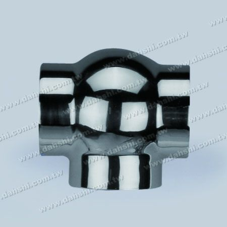 S.S. Round Tube External T Conn. Ball Type - Stainless Steel Round Tube External T Connector Ball Type - Casting Made