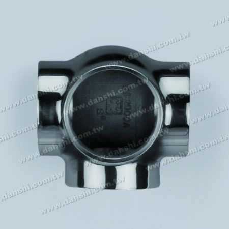 S.S. Round Tube External 90° Ball Connector 4 Way Out - Stainless Steel Round Tube External 90degree Ball Connector 4 Way Out - Casting Made