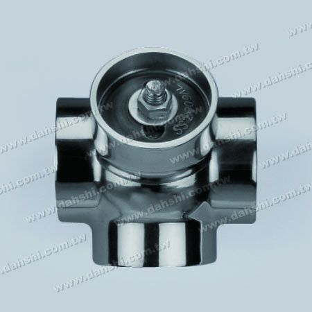 S.S. Round Tube External 135° Ball Connector 4 Way Out - Stainless Steel Round Tube External 135degree Ball Connector 4 Way Out - Casting Made