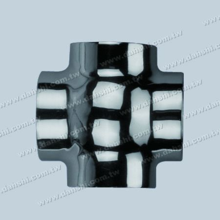 S.S. Round Tube External Cross Ball Connector 4 Way Out - Stainless Steel Round Tube External Cross Ball Connector 4 Way Out - Casting Made