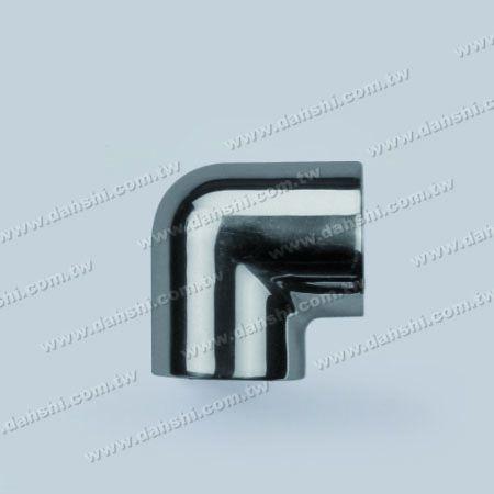 Нержавеющая сталь круглая труба внешний 90 градусов локоть круглый угол