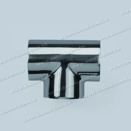 S.S. Round Tube External T Connector - Stainless Steel Round Tube External T Connector